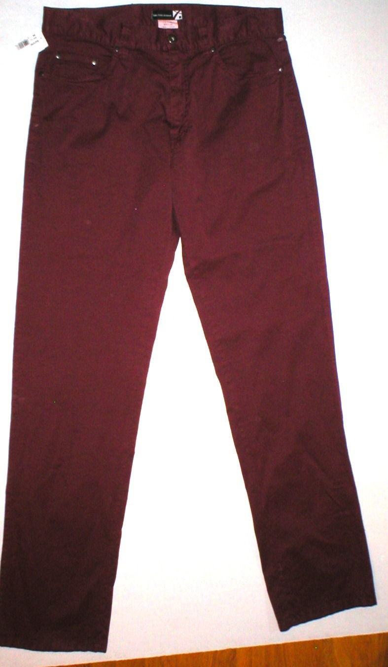 NWT New Womens Saks Fifth Avenue $148 Slacks Pants Red Dark 34 Tall 34 Inseam