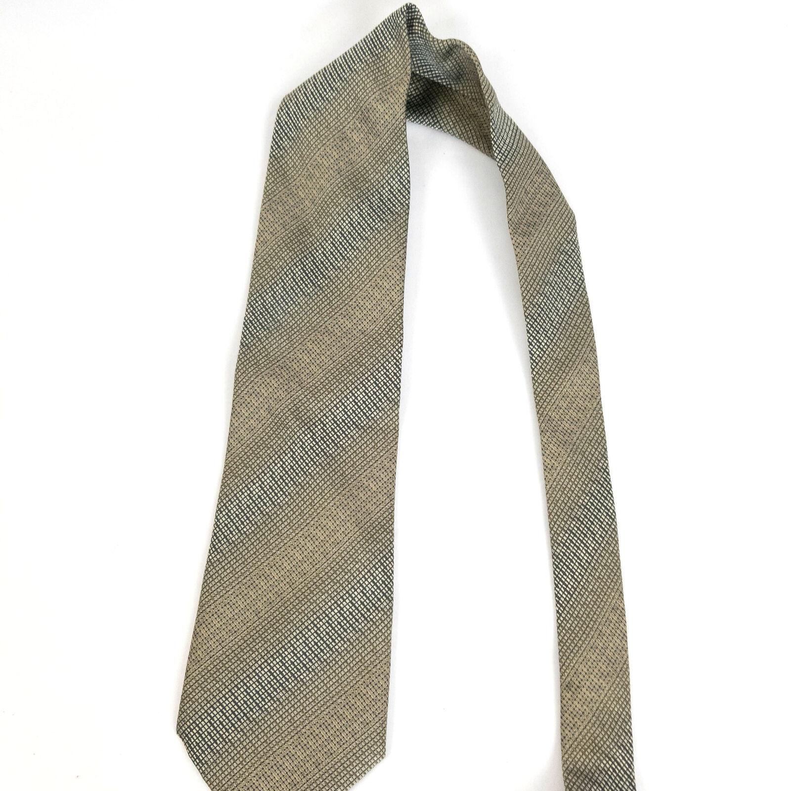 Kenneth Cole New York Green Geometric Silk Necktie Tie image 3
