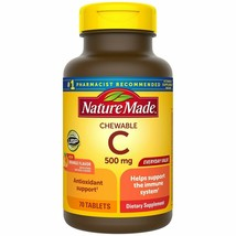Nature Made Vitamin C 500mg Immune Support Health 70 Tablets CHEWABLE Ex... - $12.99