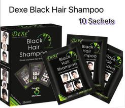 10 Pieces Dexe Black Hair Dye Shampoo - $24.99