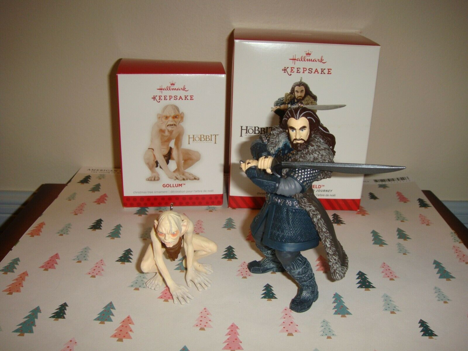 Primary image for Hallmark 2013 Hobbit Gollum Limited Edition & 2014 Thorin Oakenshield Ornaments