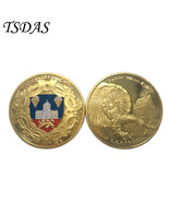 France Sainte-Mere-Eglise Golden Coin Round Metal Coins Christmas Gifts - $5.50