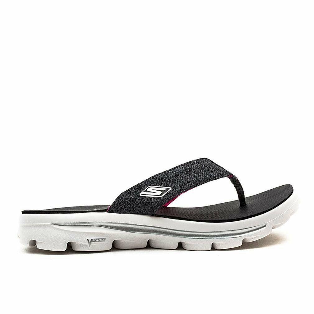 1d17ab48ee1b Skechers Performance Women s Go Walk Move Solstice Flip Flop Black White -   44.99
