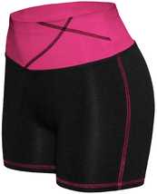 Women's W Sport Two Tone Athletic Work Out Fitness Stretch Gym Shorts AP-4815 image 12