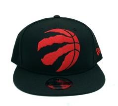 Toronto Raptors New Era 9Fifty Black XL Logo Threads Adjustable Snapback... - $29.69