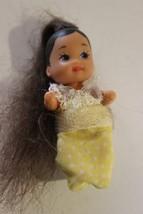 RARE Barbie Krissy Infant Baby Doll Long Hair for your doll house nurser... - $19.75