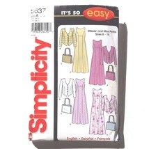 Simplicity Sewing Pattern 5637 Size A ( 8 - 18 ) Dress Jacket Purse 2003 - $15.78