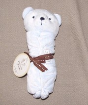 Carters Precious First Bear Blue Security Lovey Blanket Rattle Boy Just ... - $31.67