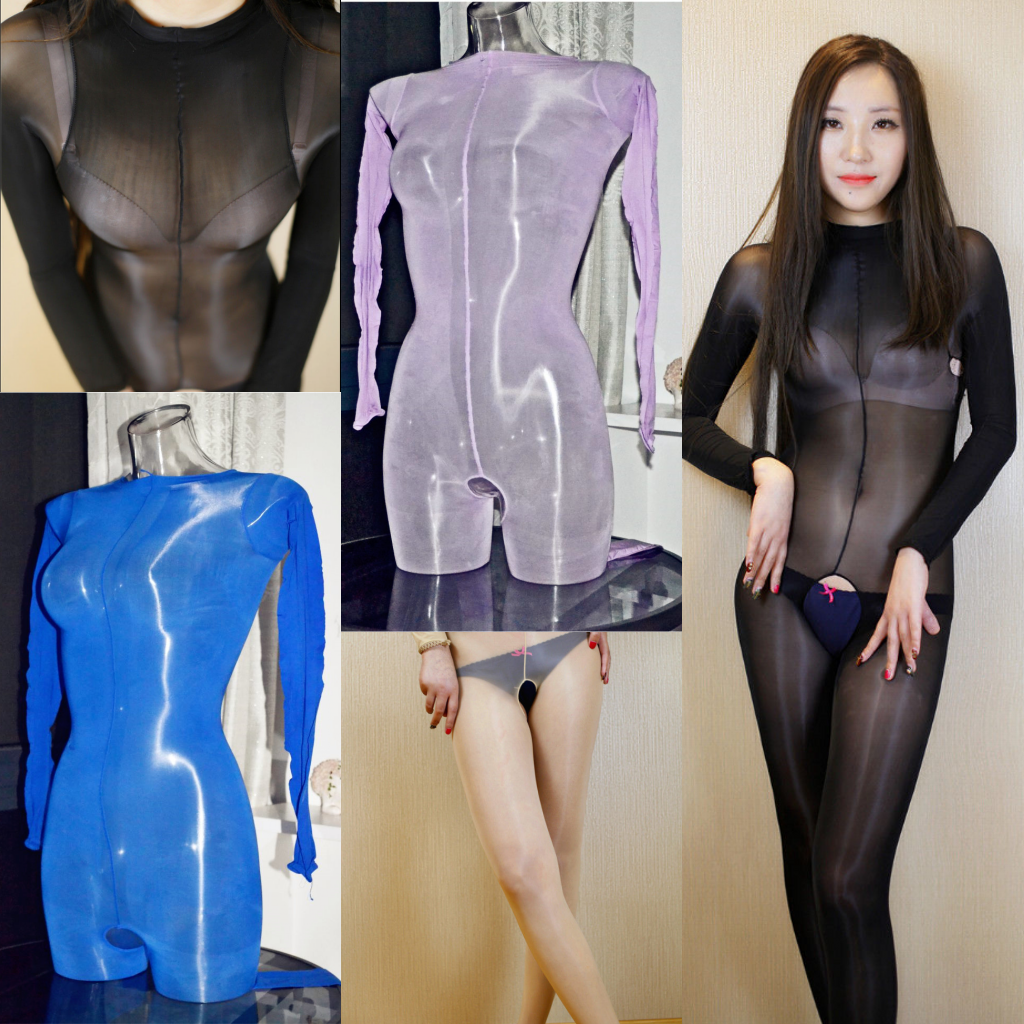 00007cc4b4b Women Sexy 8D Oil Shiny Jumpsuit Sheer and 50 similar items