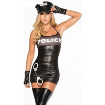 Sexy Female Police  Cosplay Party Stage Costume Set image 1