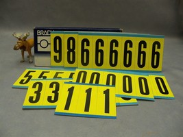 "Brady #0 #1 #3 #5 #8 #9 3450 Series Repositionable labels numbers 3"" H L... - $115.18"