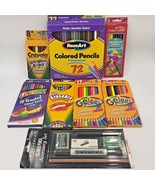 Lot 134 Crayola Rose Art Sanford Colored Pencils & Prismacolor Accessory... - $24.95