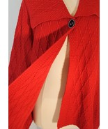 JM Collection Red Swing Cardigan Oversized Collar Single Button/Snap sz 3X - $28.80