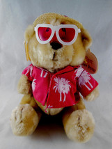 "Russ Berrie Luv Pets Lifes a Beach Bear 7"" sitting Plush Stuffed Animal ... - $9.94"