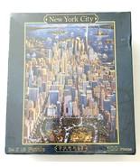 """Jigsaw Puzzle New York City Dowdle Folk Art 500 Pieces 24"""" x 18"""" New Sealed - $24.18"""