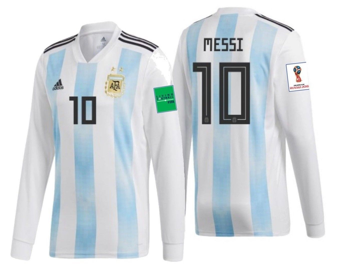 6ba5d825b33 57. 57. Previous. ADIDAS LIONEL MESSI ARGENTINA LONG SLEEVE HOME JERSEY  FIFA WORLD CUP ...