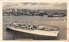 US Navy Ship Marine Phoenix C-4 Troop Ship WWII real photo rppc postcard - $7.43