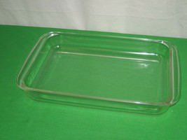 Vintage 3 Liter Pyrex Clear Glass Casserole Meat Loaf Baking Dish 233-N - $14.92