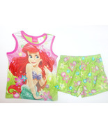 Disney Little Mermaid Ariel Girls 2 Piece Short... - $7.69