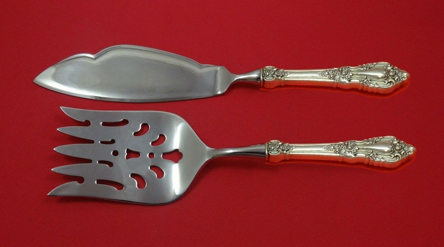 Eloquence by Lunt Sterling Silver Fish Serving Set 2 Piece Custom Made HHWS - $189.00