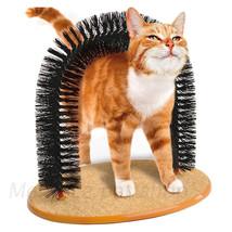 Door-Shaped Rub Hair Cat Brushes Scratcher Toys Cat Pet Massage Arch Aut... - $56.99