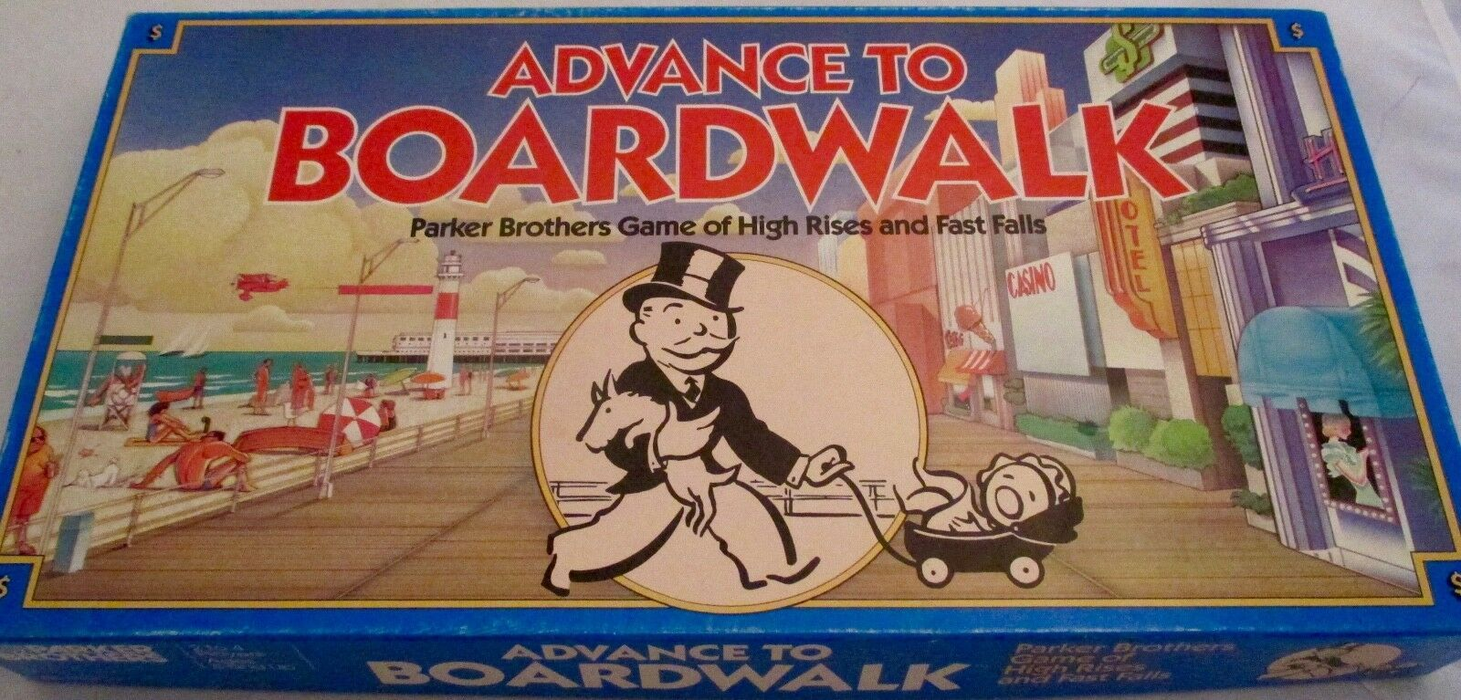 Parker Brothers Advance To Boardwalk 1985 Vintage Board Game Complete Monopoly  image 5