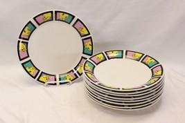 "Gibson Looney Tunes Tweety Bird Dinner Plates 2001 9.75"" Set of 9 - $81.33"