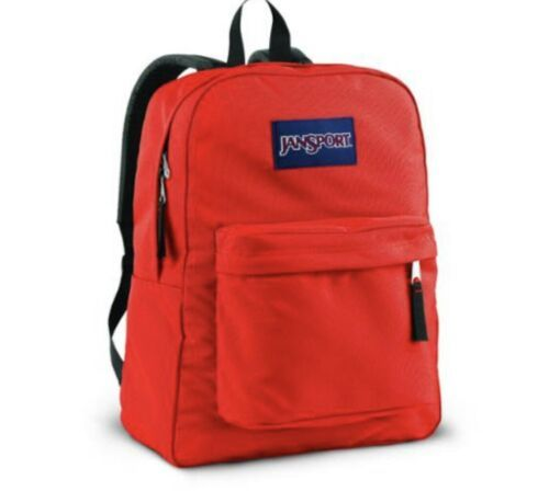 Primary image for JanSport Superbreak Backpack High Risk Red  100% Authentic