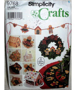 Simplicity 9768 Crafts, Christmas No sew, Tree Topper, Ornaments Swag Tr... - $11.00