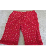 Okie Dokie Baby Pants Red W/ Hearts And Flowers 0-3 Mos - $2.99
