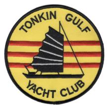 """5"""" NAVY TONKIN GULF YACHT CLUB VIETNAM 7TH FLEET EMBROIDERED PATCH - $23.74"""