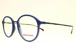 NEW AUTHENTIC PRADA VPS 01I U63-1O1 BLUE EYEGLASSES FRAME RX 63-19 140 - $91.08