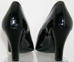 black heel toe slip pump on patent 1046511 leather 5M 6 Sofft pointed zaU6qzd