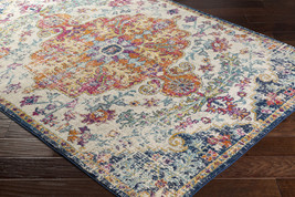 """8x10 (7'10"""" x 10'3"""" ) Traditional Oriental Distressed Blue Area Rug - €227,15 EUR"""