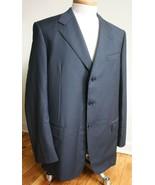 Romis 54 Black Super 140s Wool 3-Button Blazer Suit Jacket moda italiana - $49.40