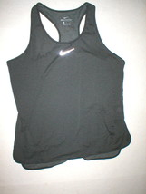 Womens Nike NWT $80 Aeroreact Tank Top New Hot Yoga Pilates Run L Black ... - $32.00