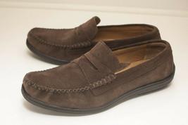 Cole Haan US 8.5 Brown Suede Penny Loafers Men's - $56.00