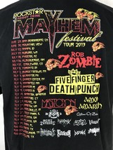 Rockstar Mayhem Festival 2013 T Shirt Rob Zombie Five Finger Death Punch Mens XL - $42.75