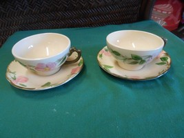 """Beautiful Collectible Set of 2 FRANCISCAN """"Desert Rose"""" CUPS & SAUCERS - $6.64"""