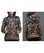 Avengers Infinity War Trailer HOODIE ZIPPER FULLPRINT WOMEN - $51.99+