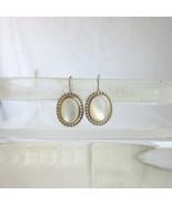 Vintag NV 925 Sterling Silver Mother of Pearl Pendant Drop Earrings Pier... - $18.00
