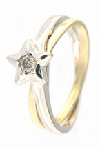 Women's 14kt Yellow and White Gold Cluster ring - $299.00