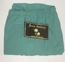 Jane Ashley Casual Lifestyle Lime Aqua Capri Pants Sz L Drawstring image 2