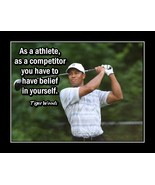 Tiger Woods Golf Quote Poster, Motivation Wall Art, Golfer Gift - $19.99+