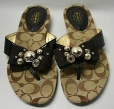 Womens Coach Sylvia Sandals Slides Jeweled A8297 7.5 B - $64.35