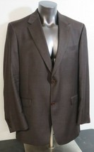 Mens Loro Piana Daniel Cremieux Brown Wool 2 Button Jacket Blazer Size 4... - $49.49