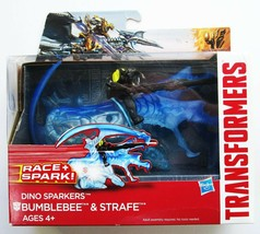Transformers BUMBLEBEE & STRAFE Dino Sparkers Action Figure Set NEW - $6.83