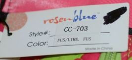 Rosen Blue  CC703 Fuchsia Lime Chevron Pattern Duffle Bag image 9