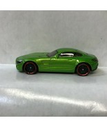 Green Mercedes AMG GT Hot Wheels 2016 Loose Diecast Car NE - $5.45