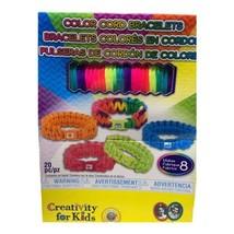 FABER CASTELL Creativity for Kids Color Cord Bracelet Craft Kit Make 8 B... - $12.99